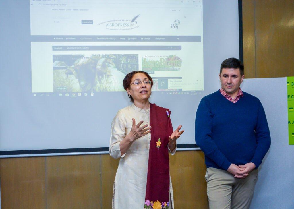 Ilustracija: Ambasadorka Indije NJ. E. Narinder Čauhan i Goran Đaković