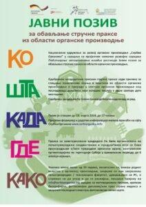 Ilustracija: plakat, Serbia organic