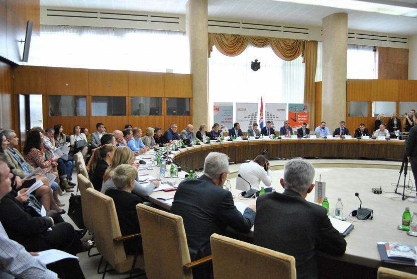 Ilustracija: okrugli sto u Palati Srbija