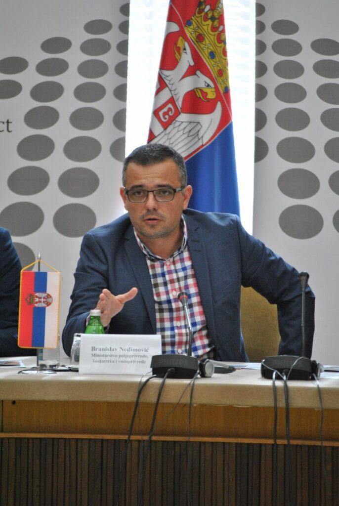 Ilustracija: Ministar poljoprivrede, šumarstva i vodoprivrede Branislav Nedimović