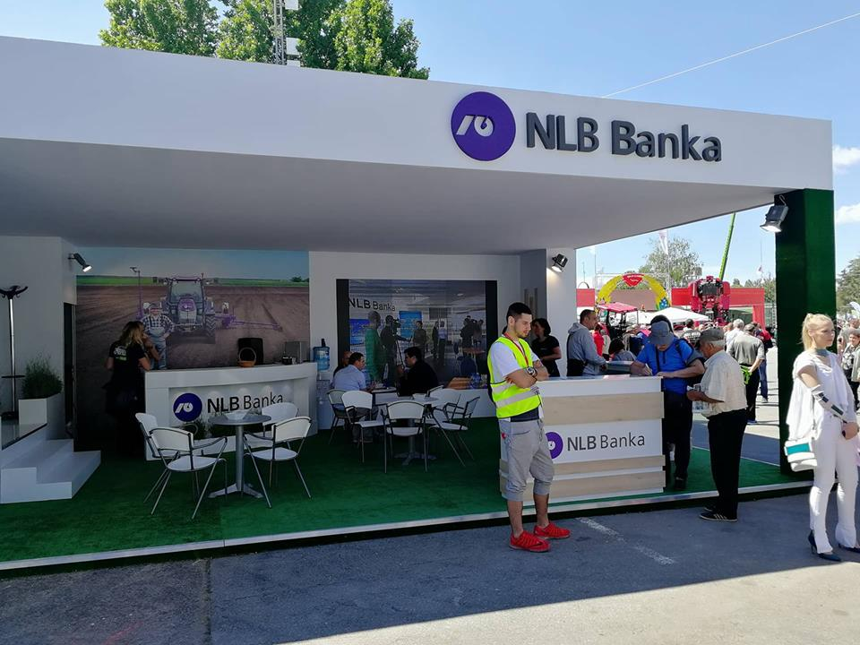 Ilustracija: Štand NLB Banke na sajmu poljoprivrede
