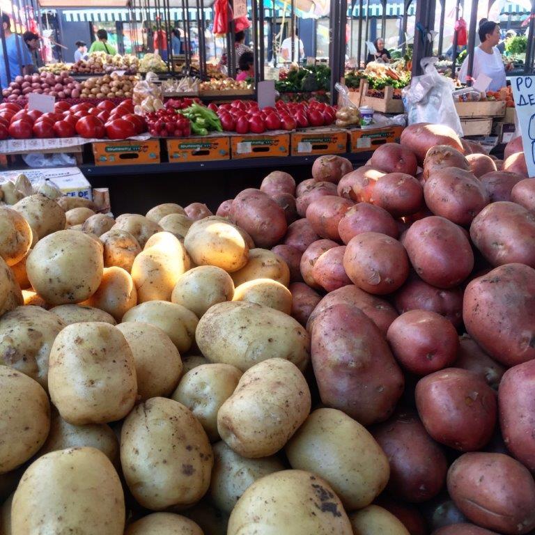 Ilustracija: krompir na pijaci, foto: S,K,