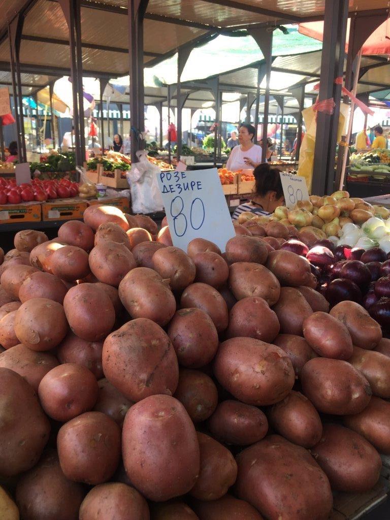 Ilustracija: Krompir na pijaci, foto: S.K.